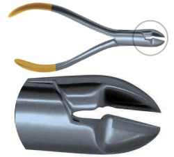 Hard Wire Cutter, 15° Angle, Carbide