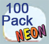 Ultimate Retainer Case, 100 Pack, Neon Glow