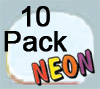 Ultimate Retainer Case, 10 Pack, Neon Glow