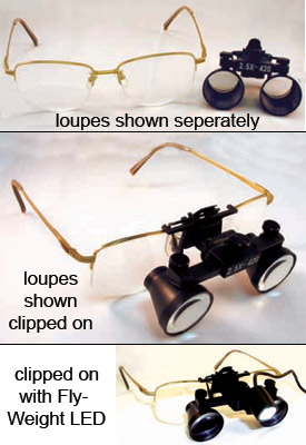 Galileo and Prism CLIP-ON Loupes