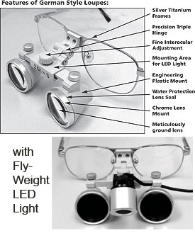 German Quality Extra Light Weight Galileo Loupes